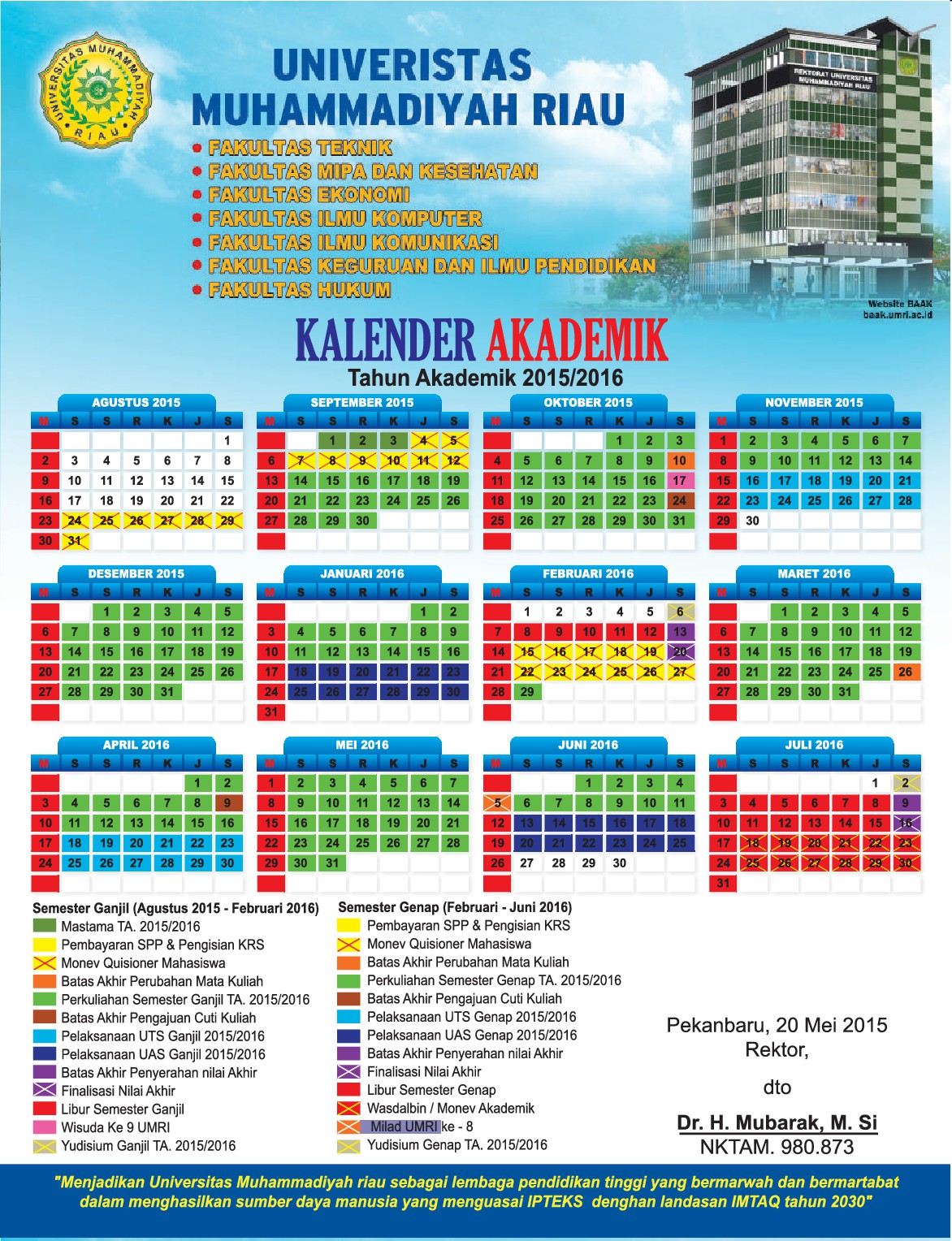 Kalender Akademik 2015-2016